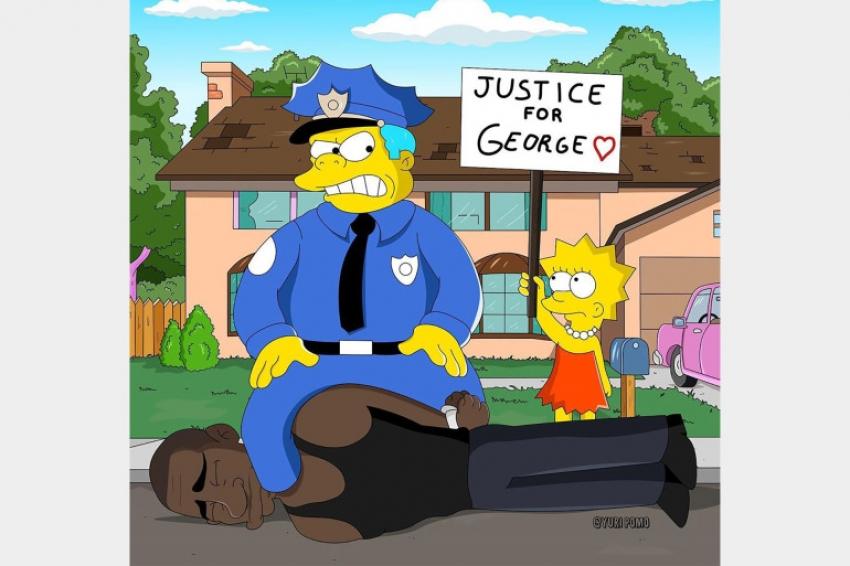 """هل تنبأ مسلسل """"عائلة سيمبسون"""" بمقتل جورج فلويد وأعمال الشغب في أميركا؟"""
